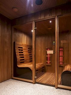 Do you want to create fabulous home sauna design ideas as your home design ideas? Creating a fabulous home sauna sounds great. In addition to making aesthetics in your home, a home sauna is very suitable for you to choose… Continue Reading → Diy Sauna, Sauna Infrarouge, Sauna Hammam, Sauna House, Jacuzzi, Spas, Sauna Steam Room, Sauna Room, Design Sauna