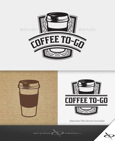Coffee ToGo Logo — Vector EPS #barista #coffee drive thru • Available here → https://graphicriver.net/item/coffee-togo-logo/10971858?ref=pxcr