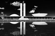 Oscar Niemeyer's Congresso Nacional in Brasilia.