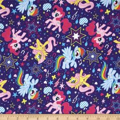 Hasbro My Little Pony Cutie Power Toss Purple from @fabricdotcom  Designed by Hasbro and licensed to Springs Creative Products, this cotton print is perfect for quilting, apparel and home decor accents. Colors include shades of pink, purple, blue, yellow, and white. Due to licensing restrictions, this item can only be shipped to USA, Puerto Rico, and Canada.