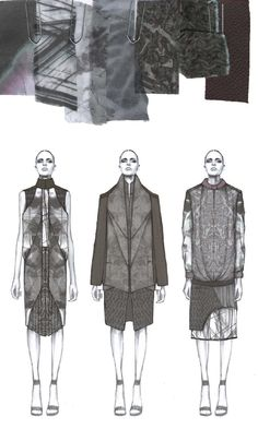 Fashion Sketchbook - fashion illustrations & textiles for graduate fashion collection, fashion portfolio // Amy Dee