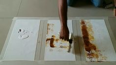 Easy Abstract Painting Demonstration / How to make easy abstract paintin...