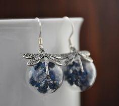 Silber Ohrstecker - 925 Silber - Echte Blüten Ohrringe - ein Designerstück von LadyMirage bei DaWanda