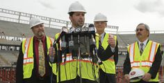 The construction on the new #49ers stadium in Santa Clara in nearly  11 months in and tickets sales for its inaugural season in 2014 are roughly 75 percent sold out already! #ICS is proud to be working on the #Fire Alarm systems for the new home of the 49ers!