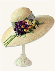 ELEANOR'S BOUQUET HAT--Victorian Trading