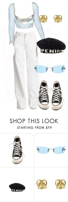 """Sans titre #3589"" by mstfscxrus ❤ liked on Polyvore featuring Converse, Chanel, Opening Ceremony and Gucci"