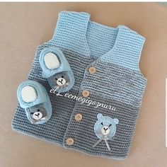 Reposted from – Healthy and happy days for all … - Knitting Crochet Crochet Baby Jacket, Crochet Baby Sweaters, Baby Poncho, Baby Vest, Hand Knitted Sweaters, Baby Cardigan, Knit Crochet, Baby Boy Knitting Patterns, Baby Patterns