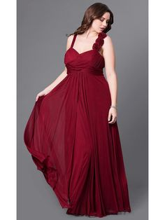 A-Line Empire Chiffon Long Plus Size Prom Evening Dresses 99502010