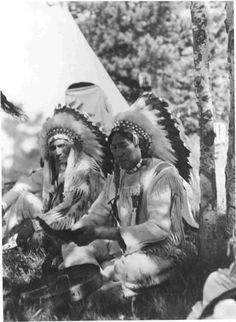 Wades In Water, George Bull Child - Blackfeet (Pikuni) - circa 1935