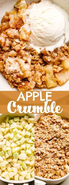 This has to be the best Apple Crumble recipe, and it will have you licking your plate clean! Apple Crumble is the lazy BFF of Apple Pie. Best Apple Crumble Recipe, Apple Crumble Pie, Apple Crisp Recipes, Healthy Apple Crumble, Best Apple Recipes, Best Dessert Recipes, Delicious Desserts, Yummy Food, Party Recipes
