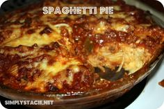 Spaghetti Pie. I usually add the egg to the noodles & layer the cottage cheese just as is over it. I also don't add the chili powder, but might try it.