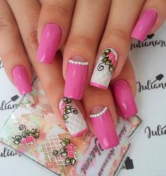 Best Nail Art Designs 2018 Every Girls Will Love These trendy Nails ideas would gain you amazing compliments. Check out our gallery for more ideas these are trendy this year. Pink Nail Art, Pink Nails, Gel Nails, Acrylic Nails, Different Nail Designs, Best Nail Art Designs, Beautiful Nail Designs, Easy Nail Art, Cool Nail Art