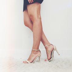 Turn Heads in our new Zoe Heel $45. The most chic nude, thin ankle strap heel. Wardrobe staple for sure, and only 4 in!