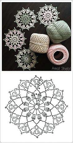 64 Mini Carpetas circulares en crochet (Patrones) Knitting TechniquesCrochet For BeginnersCrochet PatronesCrochet Stitches Crochet Snowflake Pattern, Crochet Doily Patterns, Crochet Snowflakes, Crochet Diagram, Crochet Chart, Crochet Squares, Thread Crochet, Filet Crochet, Crochet Doilies