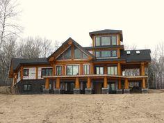 Log Cabin Getaways, Getaway Cabins, Log Home Plans, House Plans, Wooden Cabins, Post And Beam, Log Homes, Beams, Cottage