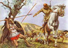 Hoplite vs Persian horseman