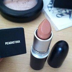 MAC peachstock lipstick - beautiful nude shade - more_make_up_pintennium Best Mac Lipstick, Mac Lipstick Swatches, Best Mac Makeup, Love Makeup, Makeup Tips, Beauty Makeup, Mac Lipsticks, Amazing Makeup, Nude Lipstick