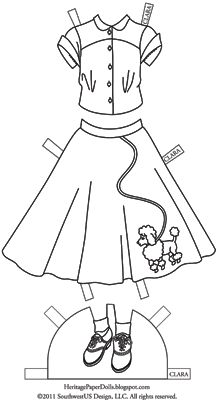 Heritage Paper Dolls: 1950-е годы. Пудель-юбка для Клары