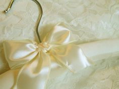 Ivory Cream or Pure White Wedding hanger by simplymadejustforyou, $22.00
