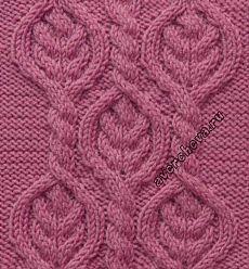 Many Gorgeous cable and lace stitch patterns charted!-Узор 713 косы в ромбах   каталог вязаных спицами узоров