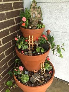 Magical and best diy fairy garden ideas fairy garden pots, diy garden Indoor Fairy Gardens, Fairy Garden Houses, Gnome Garden, Miniature Fairy Gardens, Fairy Gardening, Fairy Garden Pots, Fairies Garden, Broken Pot Garden, Porch Garden