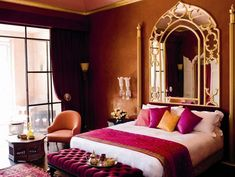 Would love a bedroom like this The Aesthete Looks at Hotels and Restaurants in Marrakech : News, Culture + Travel : Architectural Digest