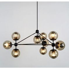 Modo Chandelier - 3 Sided - 10 Globe, Black - Design Within Reach