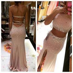 Pd07236 High Quality Prom Dress,Mermiad Prom Dress,Halter Prom Dress,Sexy Backless Prom Dress, Beading Prom Dress