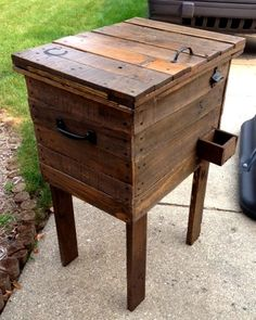 Basic Indoor/ Outdoor Pallet Wood Cooler by UpcycledWoodworks, $200.00