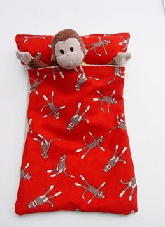 Little sleeping bag with pillow for little stuffed animals.  Great gift idea!!!