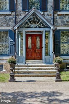 1880 Stone House For Sale In Villanova Pennsylvania Antique Light Fixtures, Antique Lighting, Colonial Revival Architecture, House Property, Mansions For Sale, Floor To Ceiling Windows, Architectural Features, Find Homes For Sale