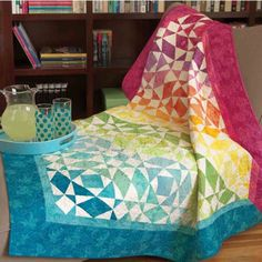Take your quilting to the next level. Cutting the Storm at Sea shapes for this popular design is a breeze with @AccuQuilt GO! dies. Use your favorite fabric or lovely batiks to bring this beautiful quilt to life. Click to get the pattern!