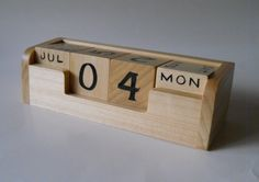 Perpetual Calendar Office Desk Counter Table Top by 2HeartsDesire, $30.00 Handmade In The U.S.A.