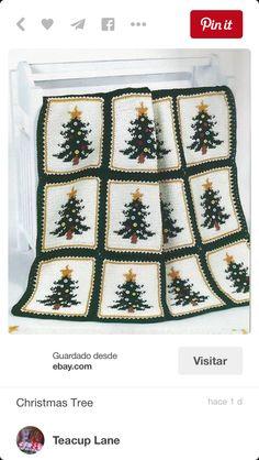 Tejido en crochet arbilitos navideños