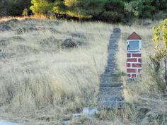 "The steps to the church of ""Agios Nektarios"" in Kanalia Volou."
