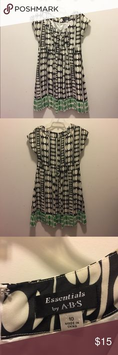 Essentials by ABS dress .Very cute dress in GUC.  100% polyester. Small stain on shoulder. See pic Dresses