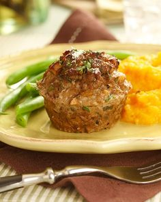 Ground Veal Mushroom Herb Loaves- substituted cilantro for parsley and dill