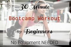 30 Minute Bootcamp Workout for Beginners - NO EQUIPMENT NEEDED