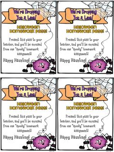freebie ... All boys and girls love a homework pass :)