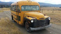 1952 Chevy School bus | Clean old Montana rural school bus. … | Flickr
