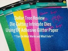 Dollar Tree Adhesive Glitter Paper Review|| How Well Does It Cut?