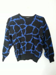 vtg 80s PUNK rock animal print sweater / by JennyAndTheClowder