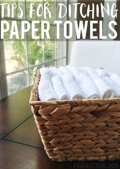 Living Tips : Here are a few simple tips to make switching from paper towels to reusable cloths easier!Frugal Living Tips : Here are a few simple tips to make switching from paper towels to reusable cloths easier! Frugal Living Tips, Frugal Tips, Be Natural, Natural Living, Simple Living, Clean Living, Natural Life, Tips & Tricks, Saving Ideas