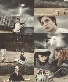 "stills from the baseball scene from the movie ""Twilight""....."
