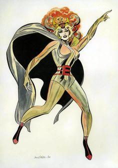 Jack Kirby and Don Heck - Goddess Illustration Original Art (1966).