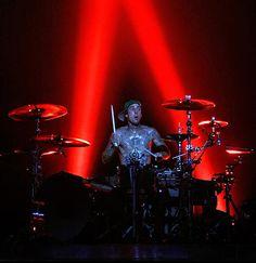 Travis Barker. Although not a fan of his fashion sense, i gotta admit he's a pretty innovative drummer.