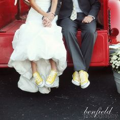 Yellow converse...love this idea! My kids would think I was pretty cool!