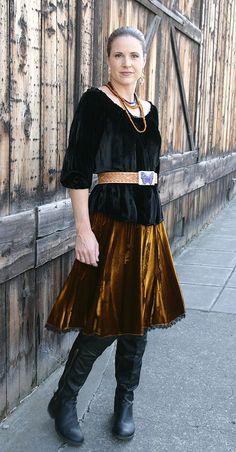 Peasant blouse w/ sundance skirt from navajo velvet