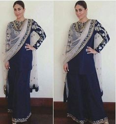 Kareena Kapoor Khan in #payalsinghal outfit for #malabargoldstore opening in…