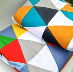 Equilateral Triangle Handmade Quilt by SewnbyLeanne on Etsy